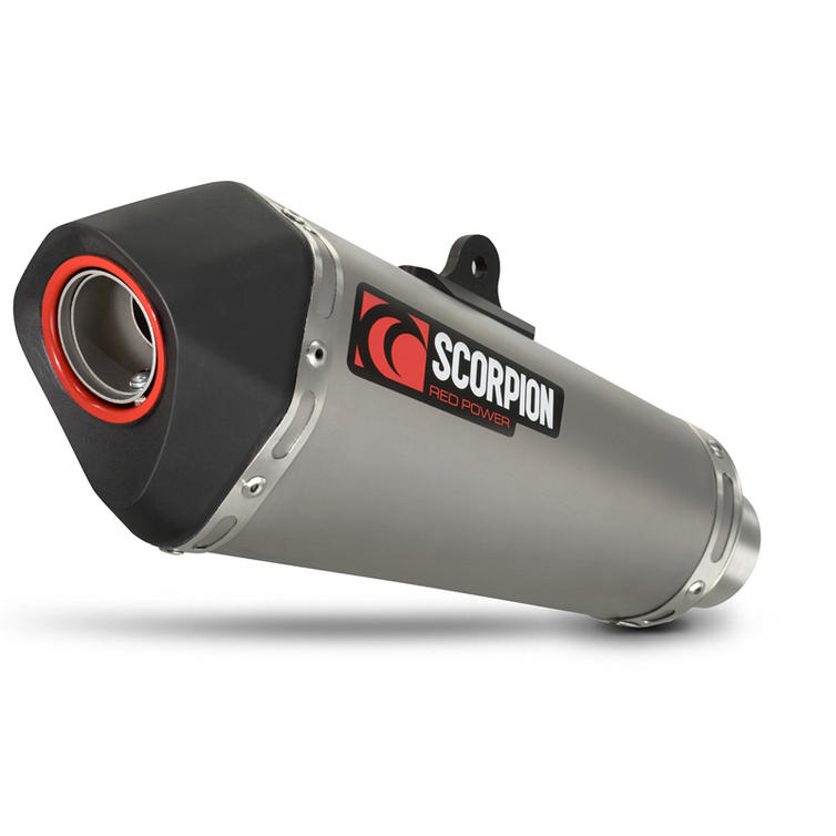 Scorpion Serket Taper Satin Titanium Oval Exhaust - Yamaha MT-07 Full System 2014