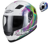 Shox Sniper Peacock Motorcycle Helmet