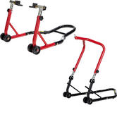 Black Pro Range B5065 Front Head Stand & B5161 Rear Paddock Stand Set