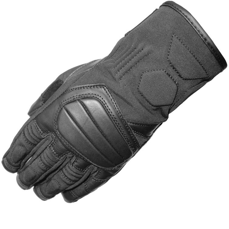 Black Duo Leather Motorcycle Gloves