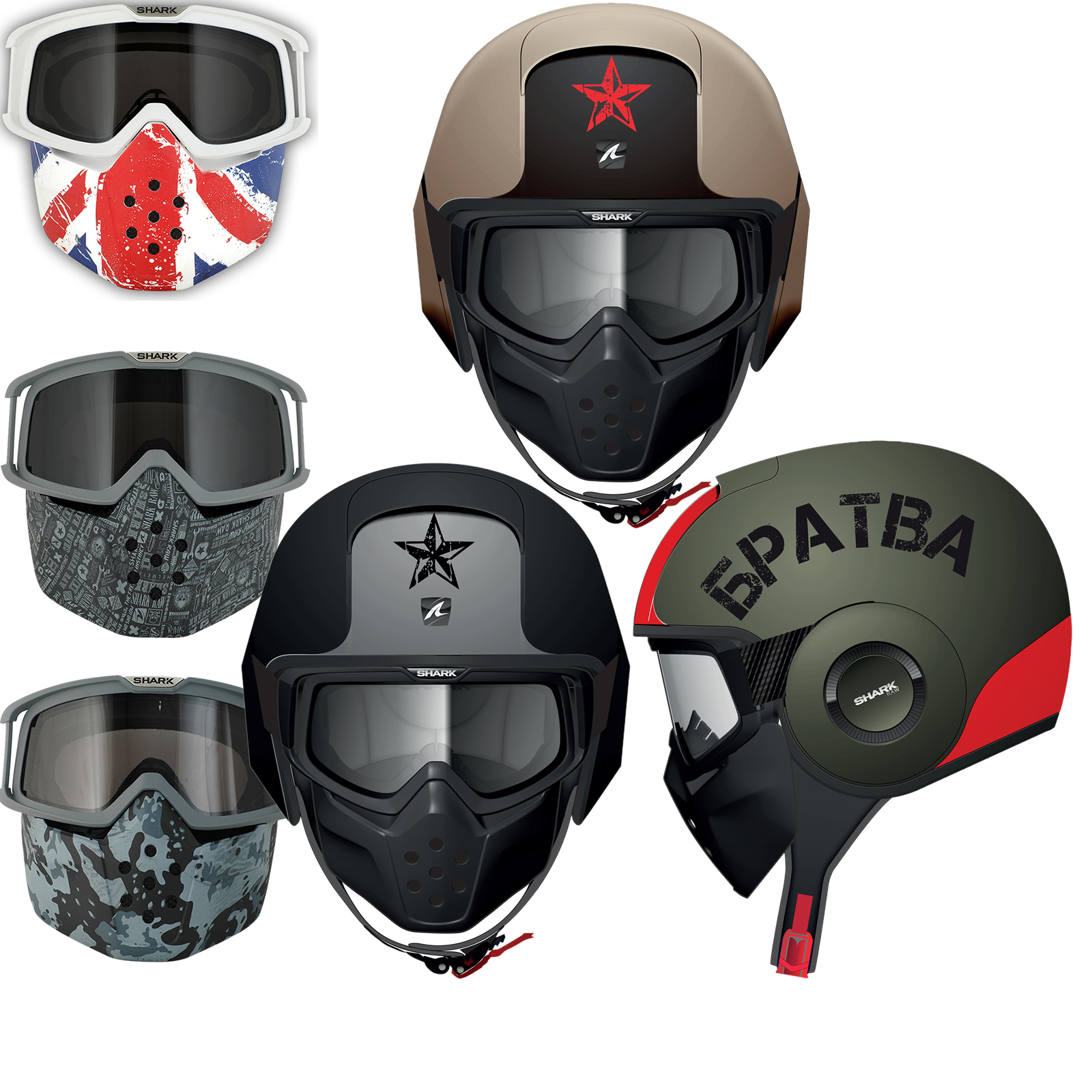 Shark Raw Motorcycle Helmet All Over Goggle /& Mask Replacement Kit