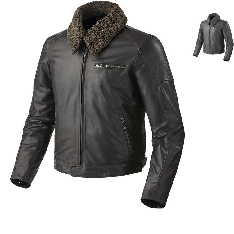 Rev It Pilot Leather Motorcycle Jacket