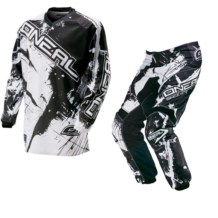 Oneal Element 2016 Shocker Black White Motocross Kit