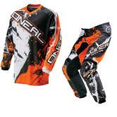 Oneal Element 2016 Shocker Black Orange Motocross Kit