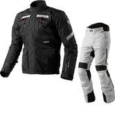 Rev It Neptune GTX Motorcycle Jacket & Trousers Black Silver Kit
