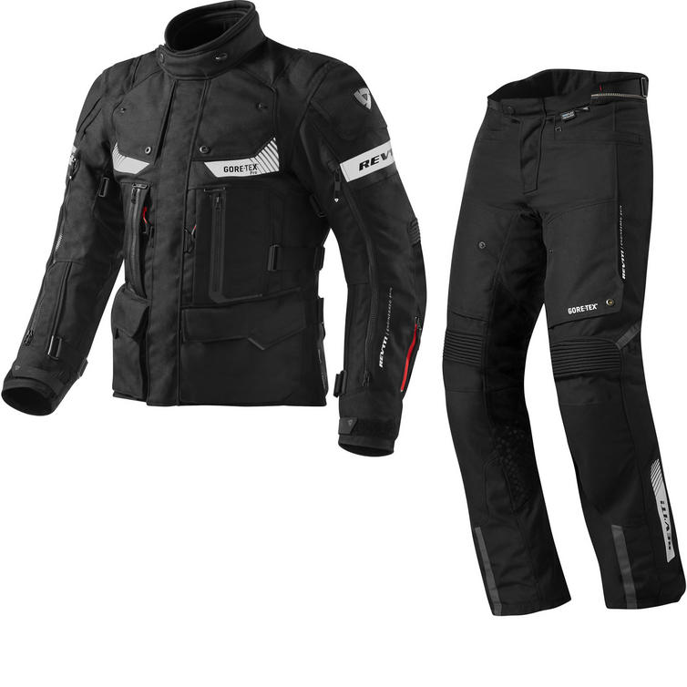 Rev It Defender Pro GTX Motorcycle Jacket and Trousers Black Kit