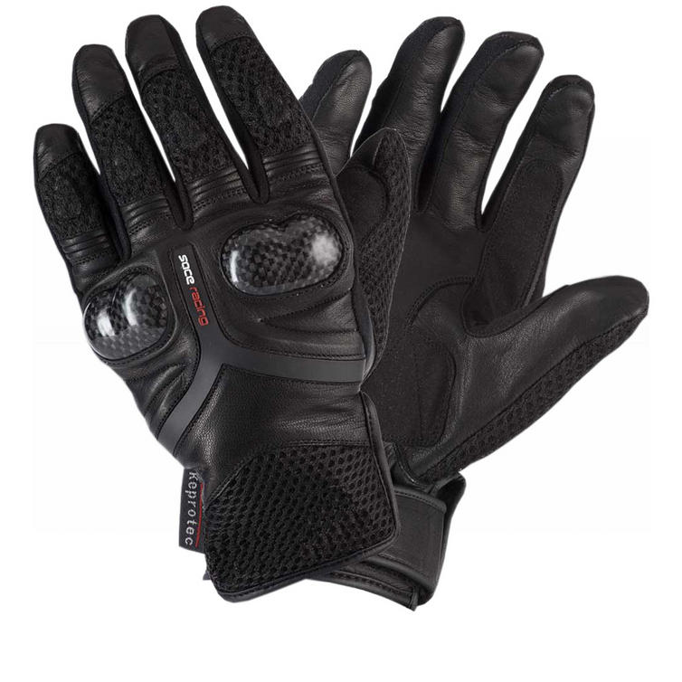Rayven Air-Pro Leather Motorcycle Gloves