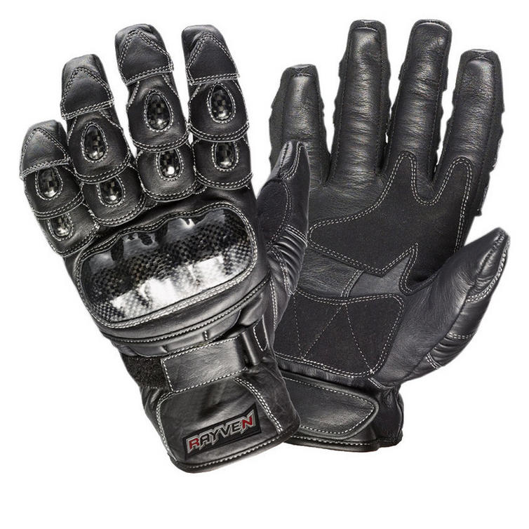 Rayven Talon Leather Motorcycle Gloves