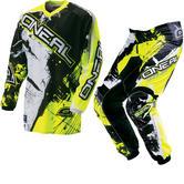 Oneal Element Kids 2016 Shocker Black Hi-Vis Motocross Kit