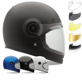 Bell Bullitt Motorcycle Helmet & Black Tab Bubble Visor