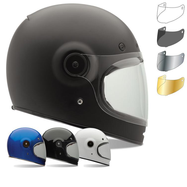 Bell Bullitt Motorcycle Helmet & Brown Tab Flat Visor
