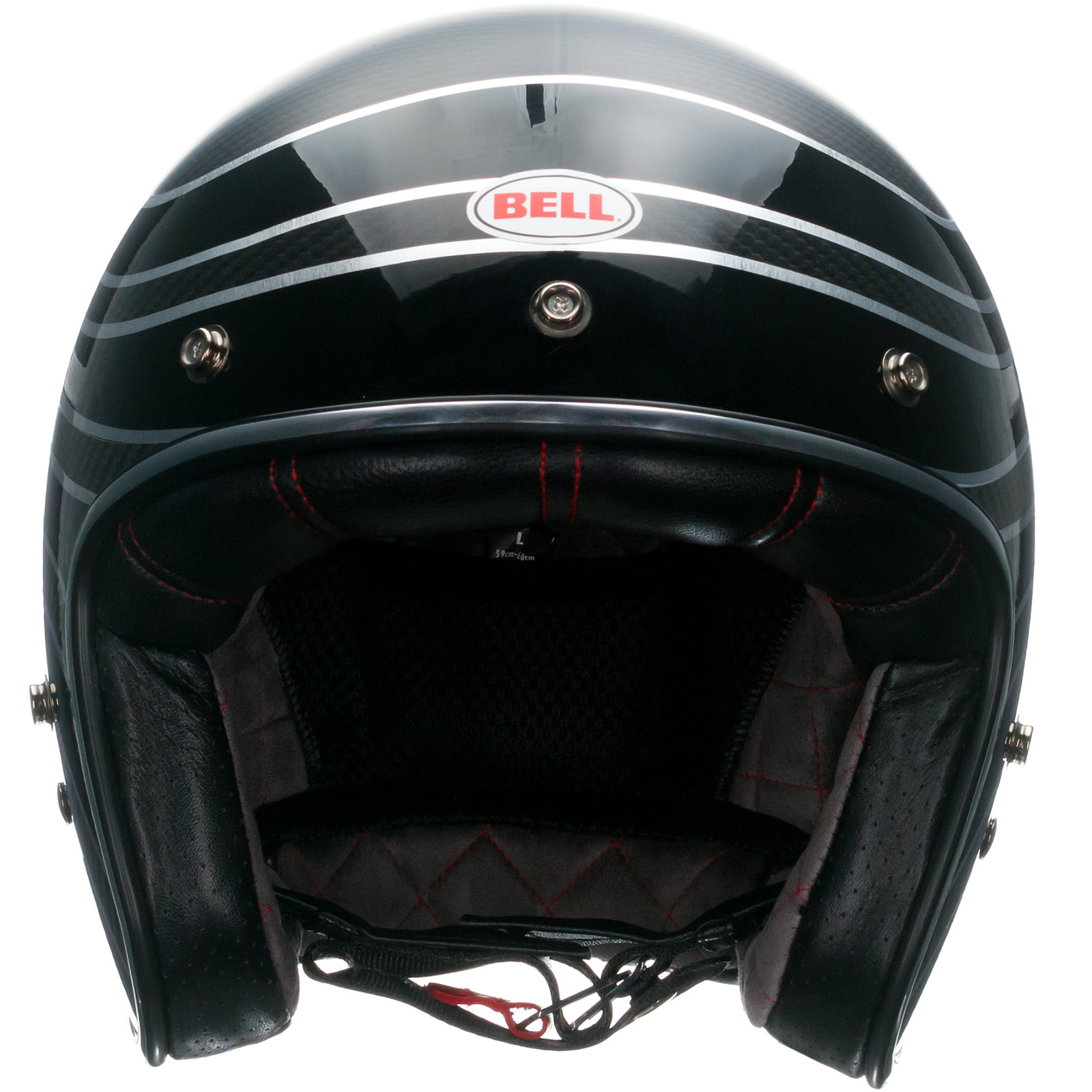 Bell custom 500 gloss black vintage low profile helmet chopper harley - Bell Custom 500 Carbon Rsd Talladega Helmet Amp