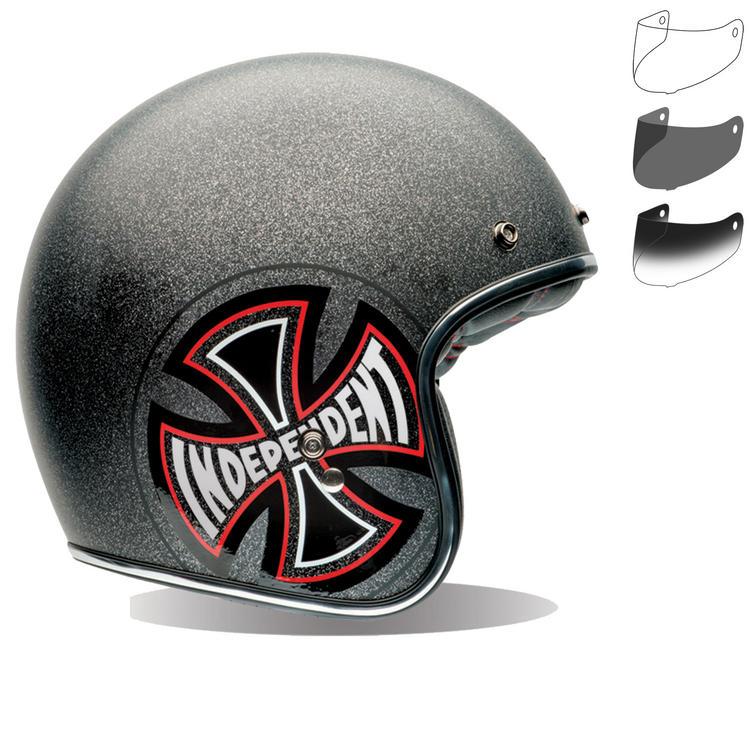 Bell Custom 500 SE Indy Open Face Motorcycle Helmet & Optional Fixed Visor