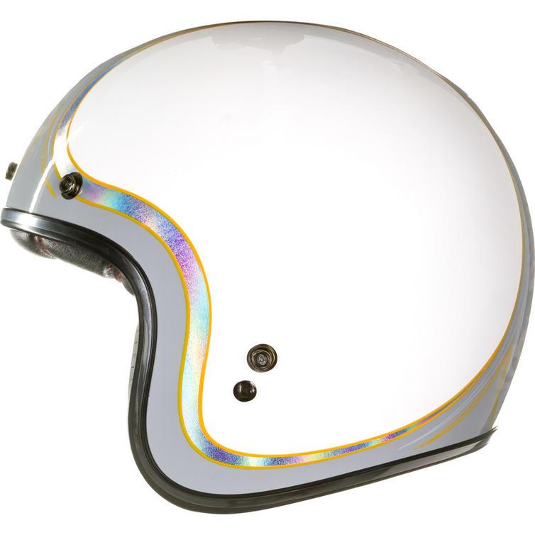 Bell Custom 500 Bubble Visor >> Bell Custom 500 SE Headcase Cueball Open Face Motorcycle Helmet & Optional Bubble Visor - Open ...