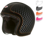 Bell Custom 500 SE RSD Check It Deluxe Open Face Motorcycle Helmet & Optional Fixed Visor
