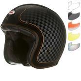 Bell Custom 500 SE RSD Check It Deluxe Open Face Motorcycle Helmet & Optional Bubble Visor