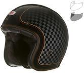 Bell Custom 500 SE RSD Check It Deluxe Open Face Motorcycle Helmet & Optional Flip Visor
