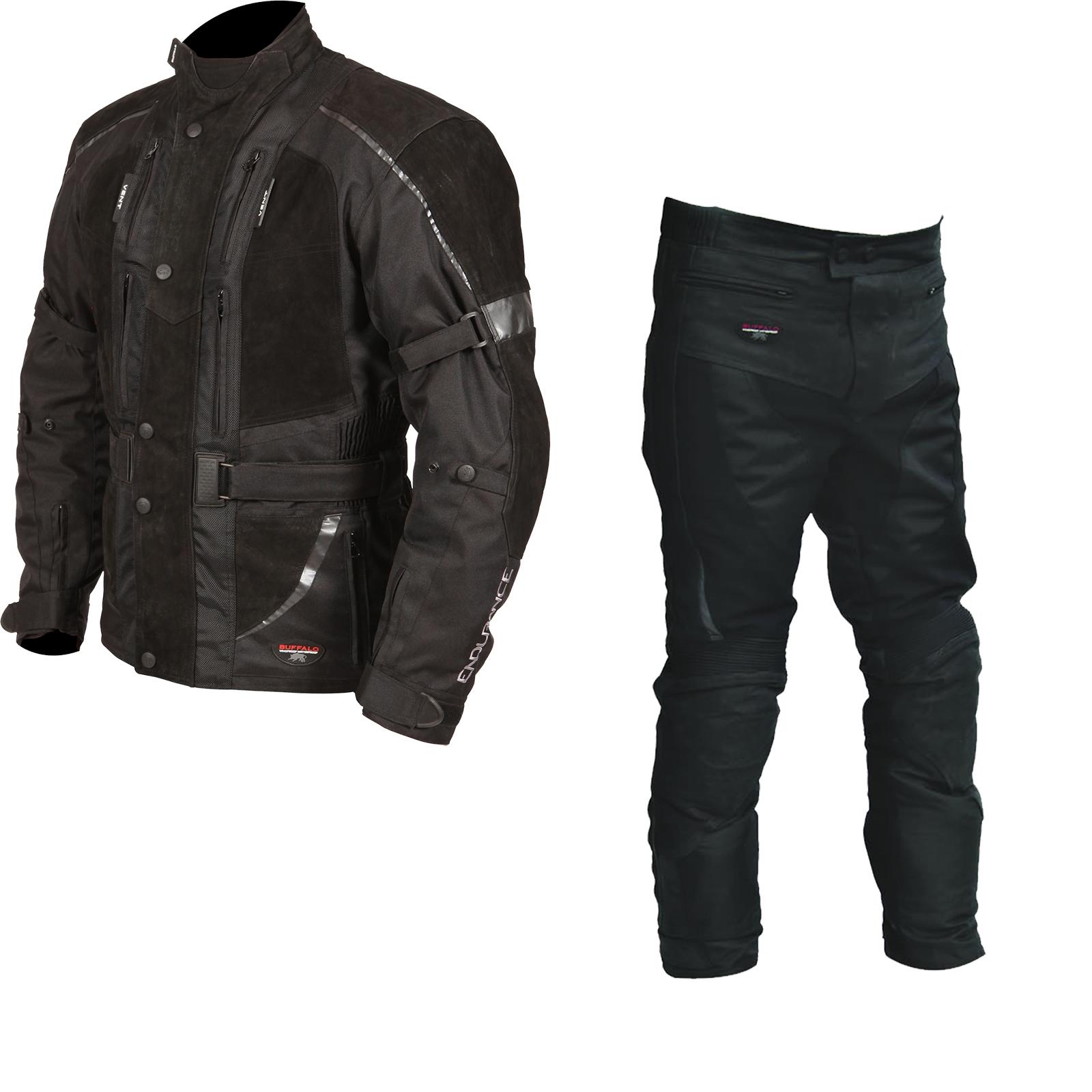 Buffalo Endurance Motorcycle Jacket Trousers Black Kit Buffalo Ghostbikes Com