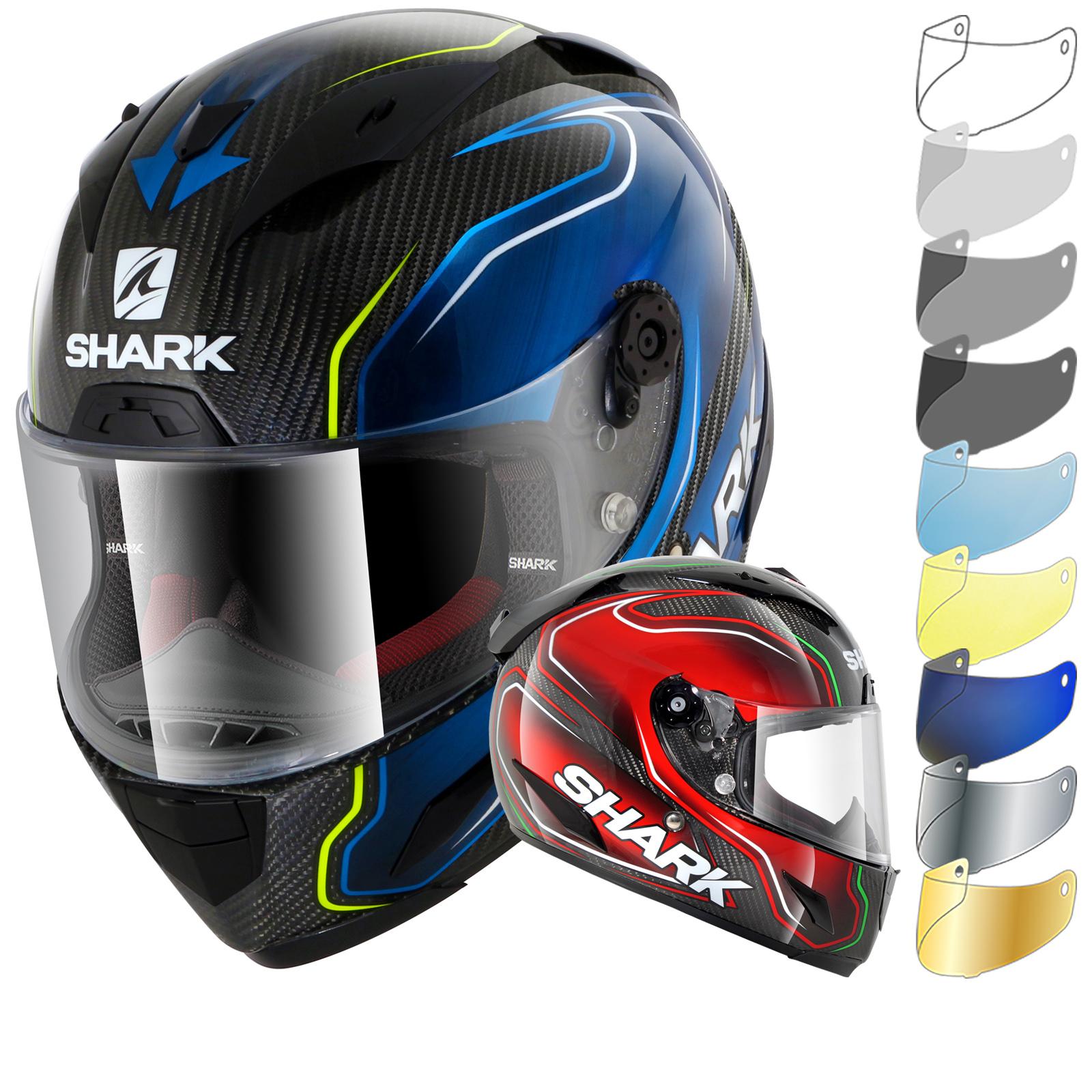 shark race r pro carbon guintoli motorcycle helmet visor full face helmets. Black Bedroom Furniture Sets. Home Design Ideas