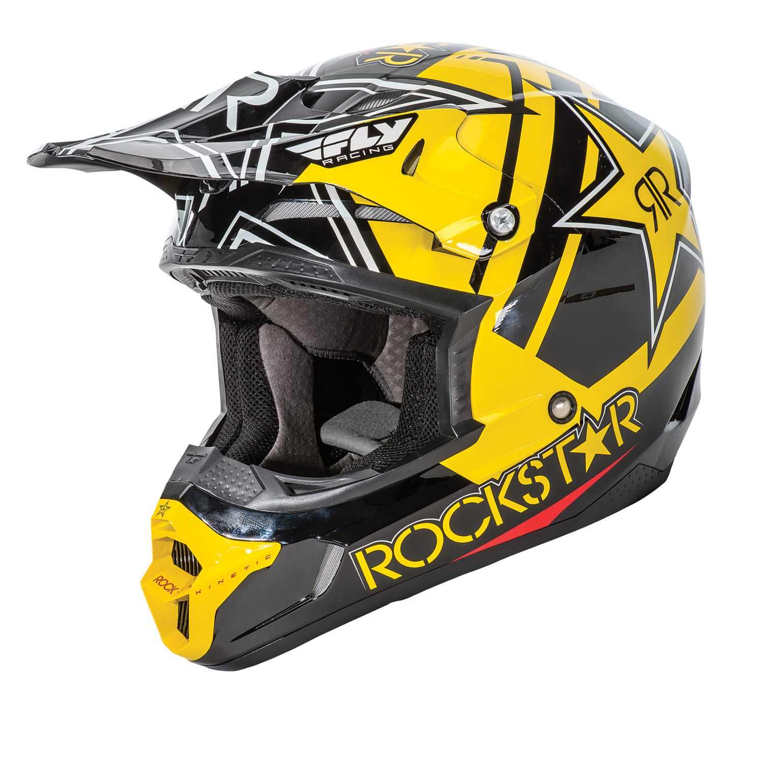 Fly Racing Kinetic Pro Rockstar Motocross Helmet Helmets