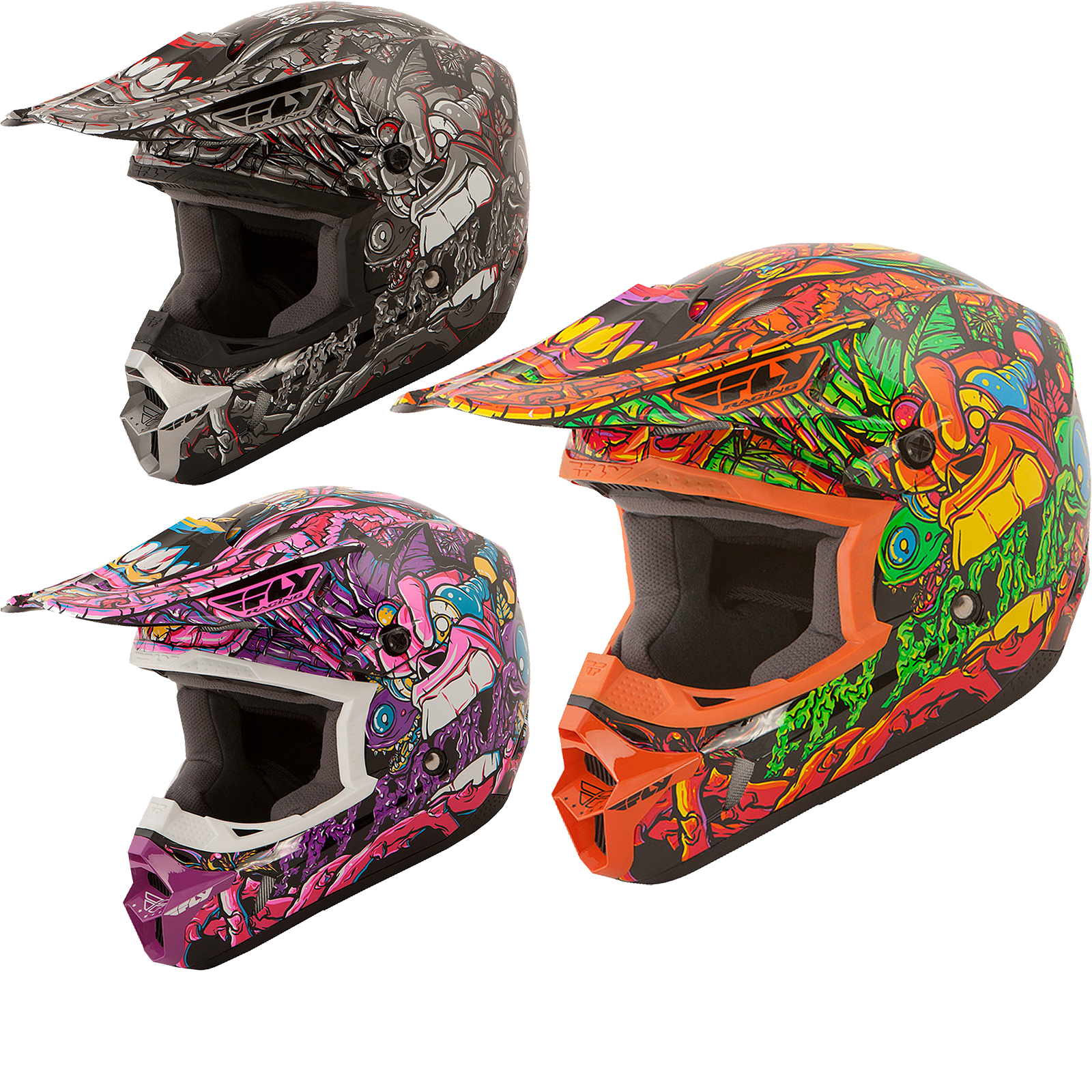 fly racing 2016 kinetic jungle youth motocross helmet 21333 | 21333 fly racing 2016 kinetic jungle youth motocross helmet 1600 0