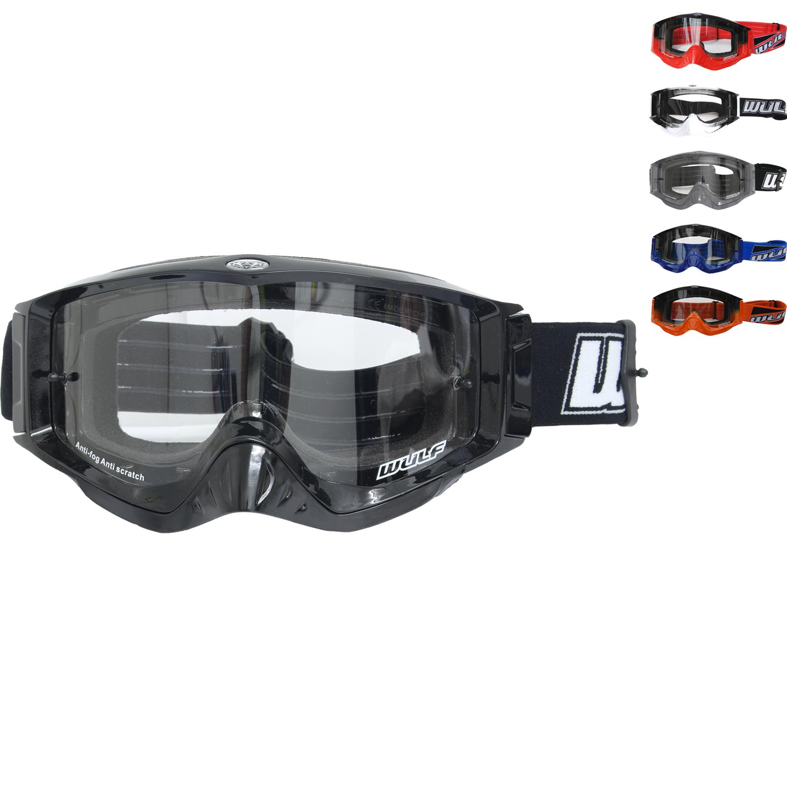 80e99c5e75ce Wulf Shade Motocross Goggles Wulfsport Off Road Enduro Helmet Anti ...