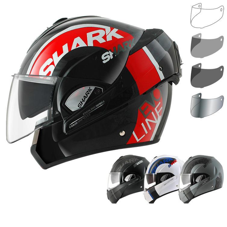 Shark Evoline S3 Drop Flip Front Motorcycle Helmet & Visor