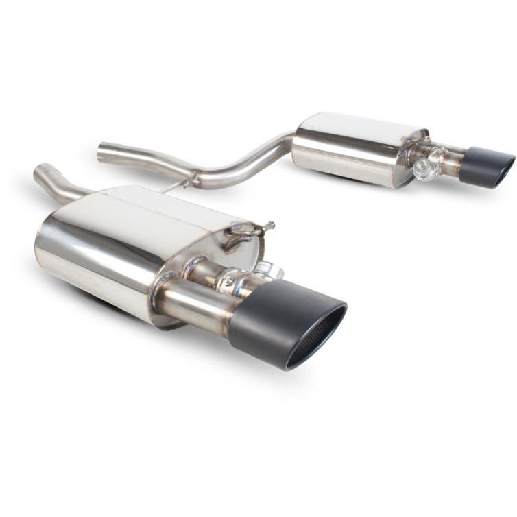 Scorpion Exhaust Rear Silencers Only Twin Evo R BLK - Audi RS4 4.2 V8 B7 06-08