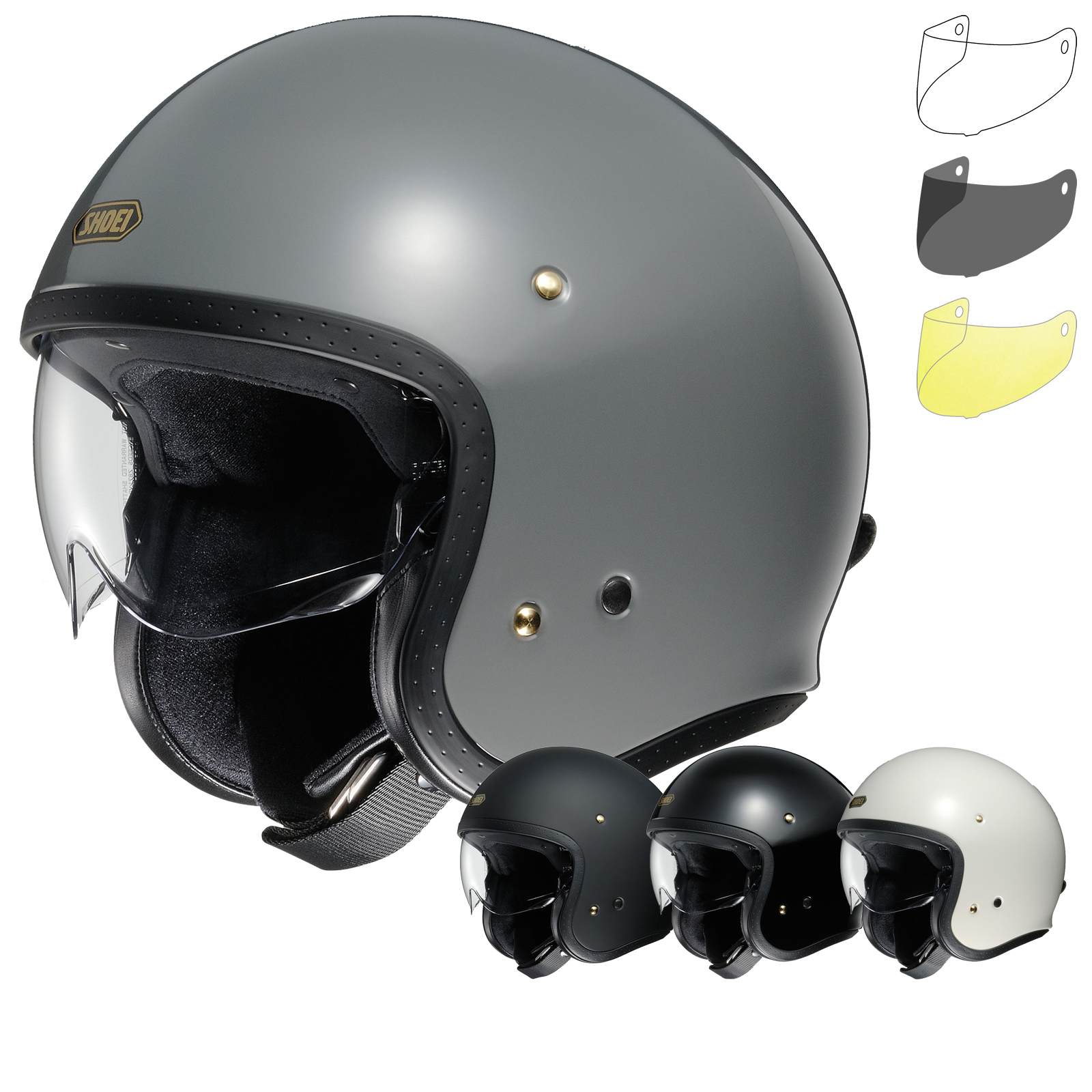 Full Motorcycle Helmet >> Shoei J.O Open Face Motorcycle Helmet & Visor - Open Face Helmets - Ghostbikes.com