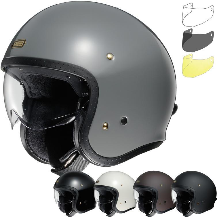 Shoei J.O Open Face Motorcycle Helmet & Visor