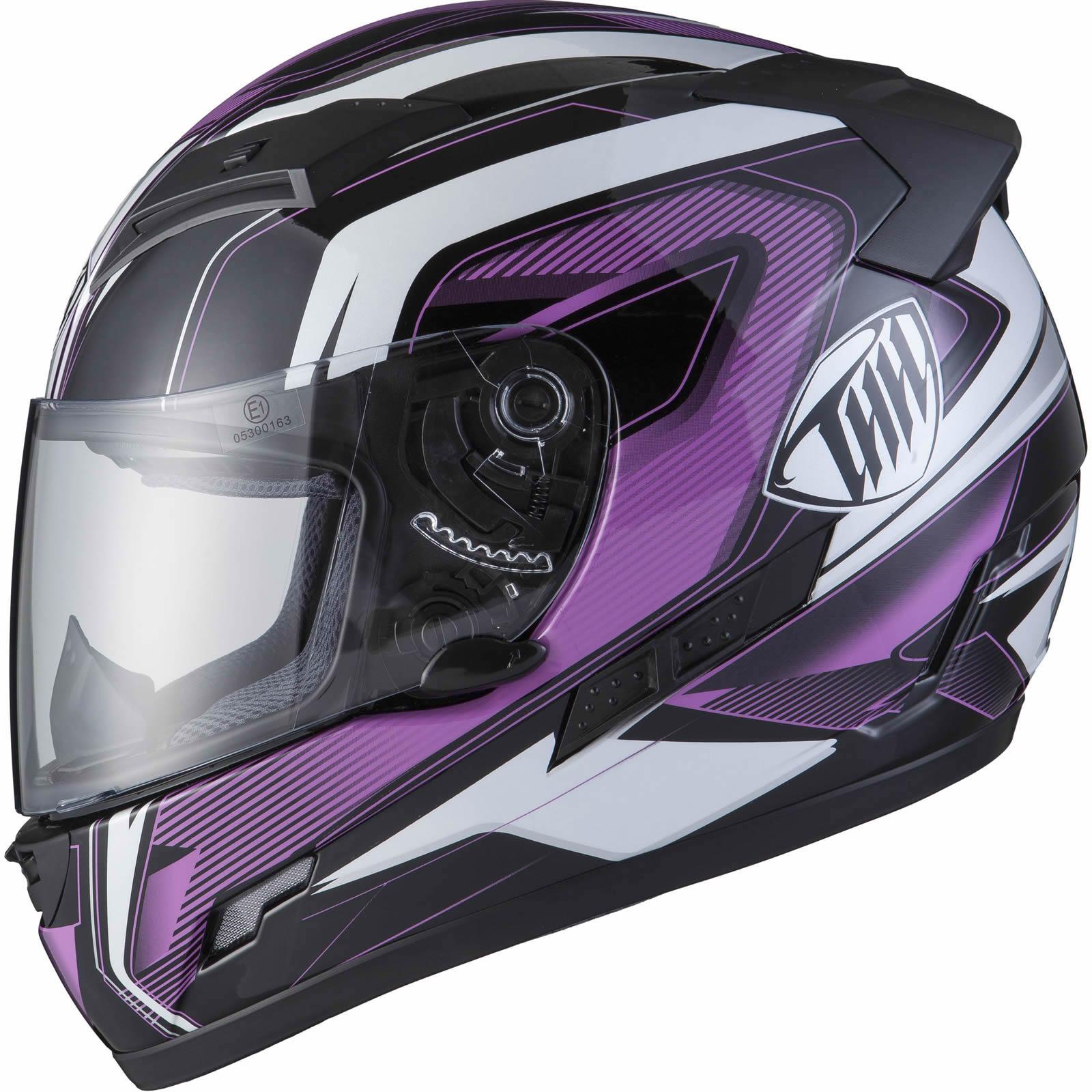 da8b07ff THH TS-80 #6 Black Orchid Full Face Motorbike Scooter Helmet Tinted ...