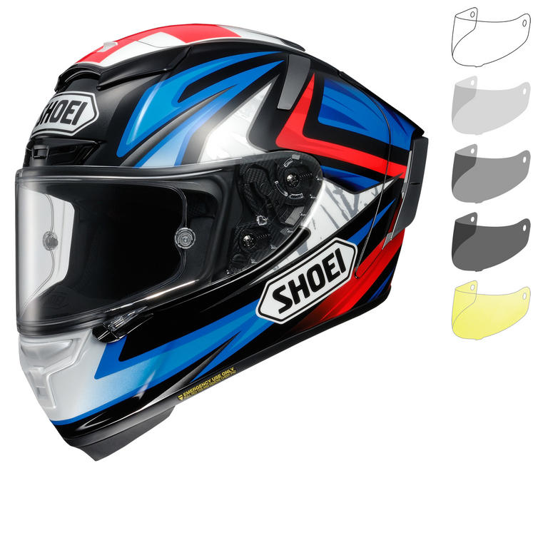 Shoei X-Spirit 3 Bradley Motorcycle Helmet & Visor