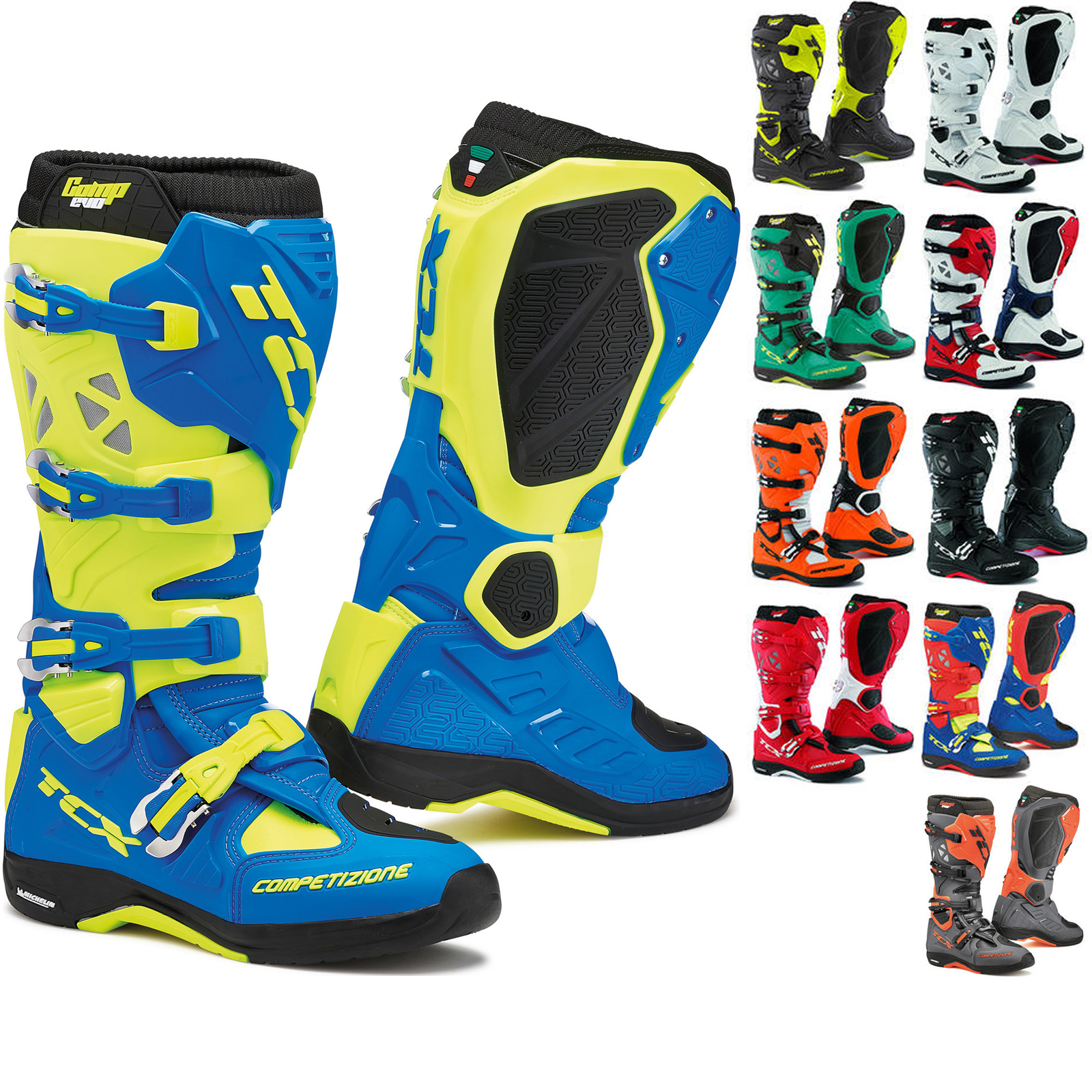 Tcx Comp Evo Michelin Motocross Boots Motocross Boots