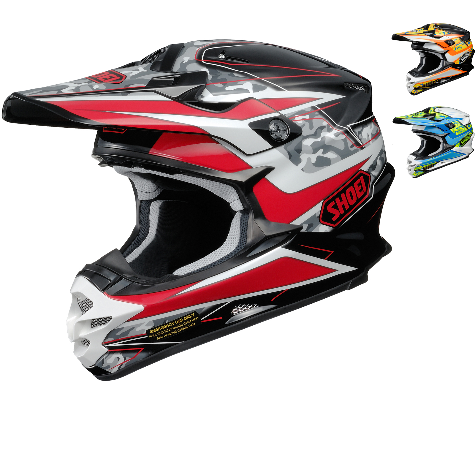 shoei vfx w turmoil motocross helmet. Black Bedroom Furniture Sets. Home Design Ideas