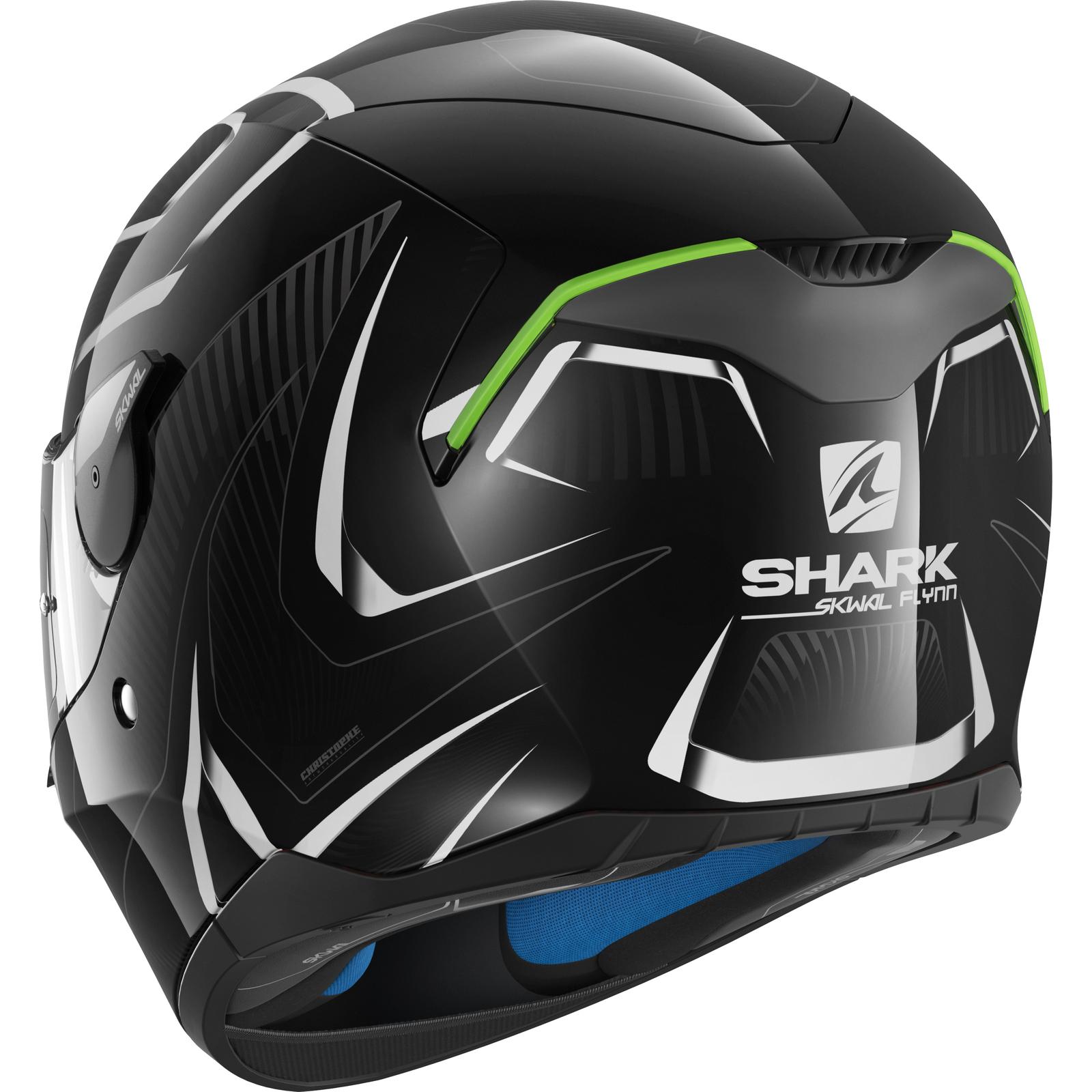 shark skwal flynn motorcycle helmet led biker full face lid sharktooth prepared ebay. Black Bedroom Furniture Sets. Home Design Ideas