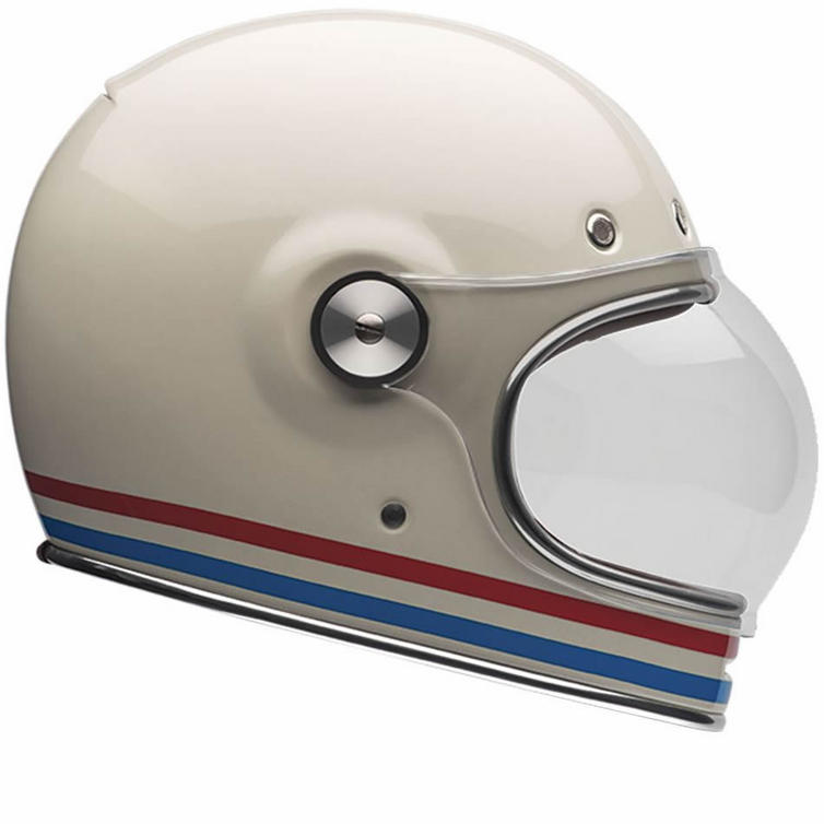 Bell Bullitt Stripes Pearl White Motorcycle Helmet