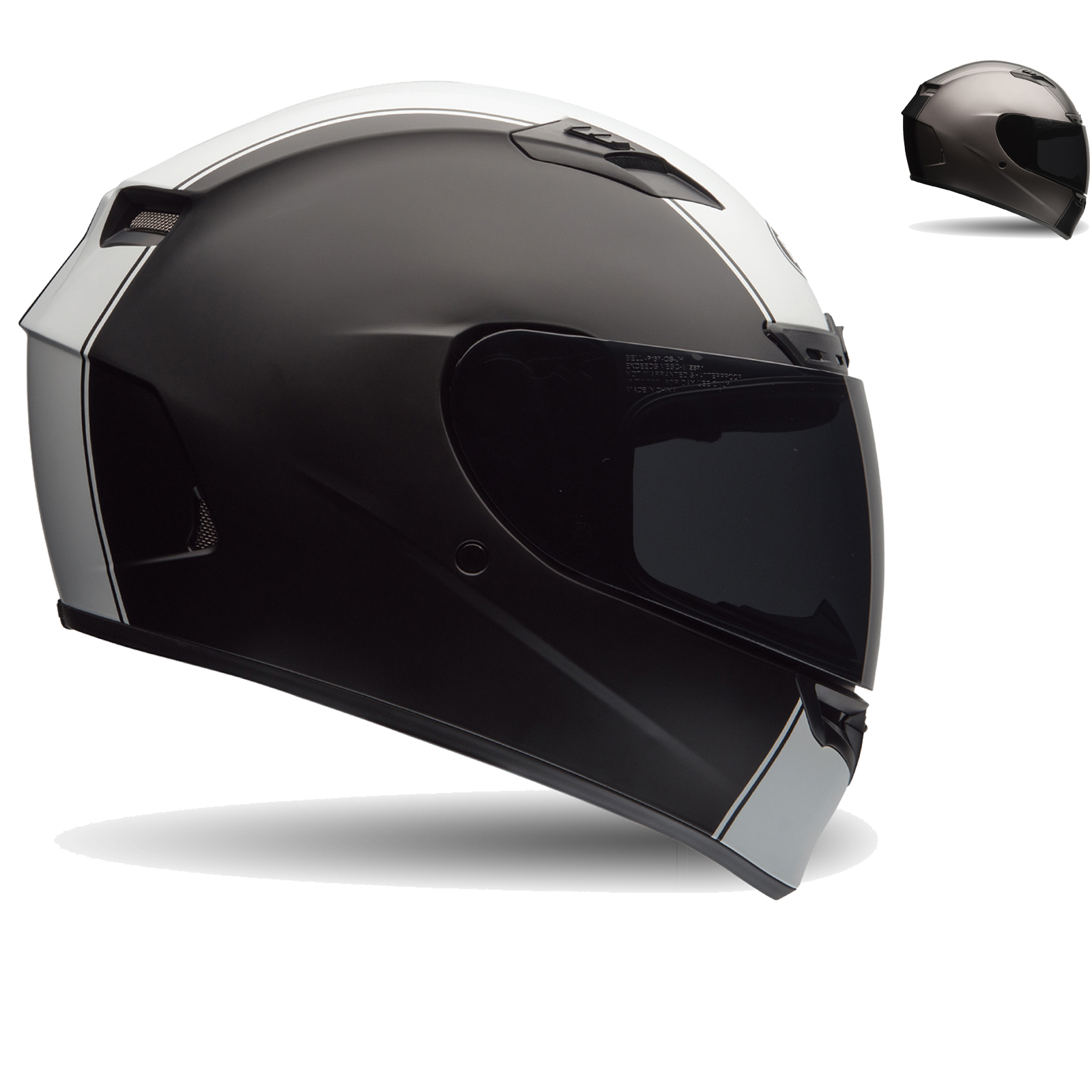 bell qualifier dlx motorcycle helmet full face helmets. Black Bedroom Furniture Sets. Home Design Ideas