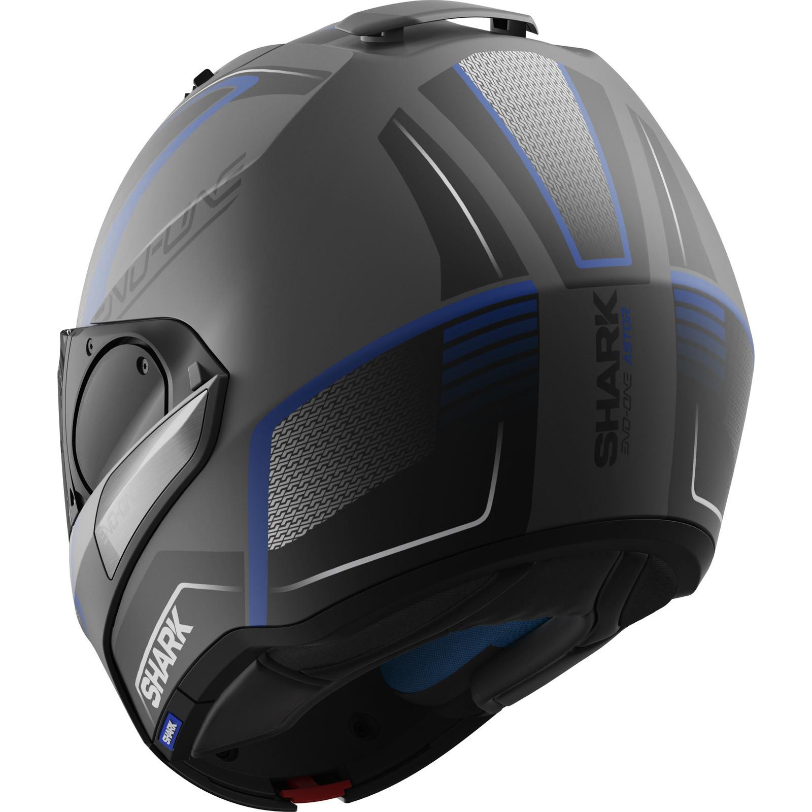 shark evo one astor flip front motorcycle helmet flip up internal sun visor ece ebay. Black Bedroom Furniture Sets. Home Design Ideas