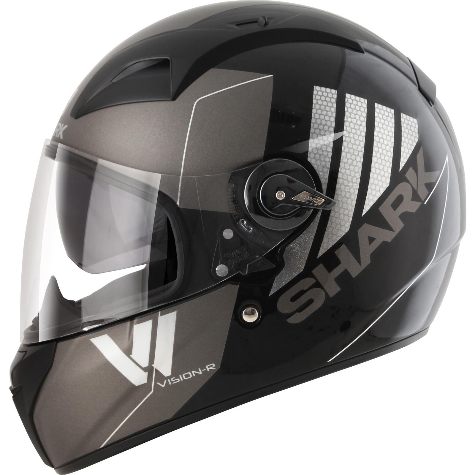 shark vision r series 2 cartney motorbike bike integral full face helmet visor ebay. Black Bedroom Furniture Sets. Home Design Ideas