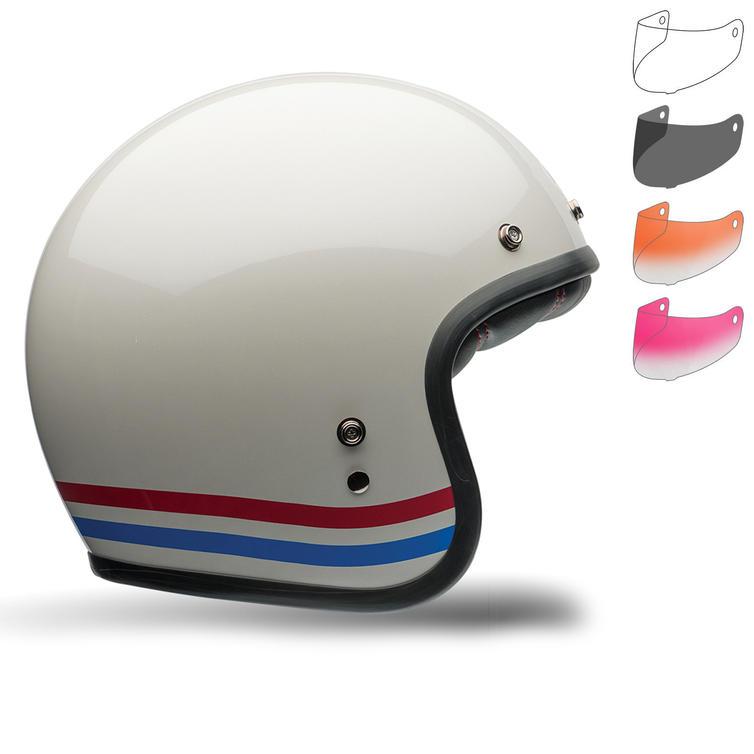 Bell Custom 500 Stripes Deluxe Motorcycle Helmet Retro Visor Kit