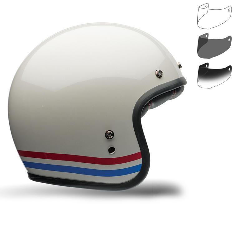 Bell Custom 500 Stripes Motorcycle Helmet Retro Visor Kit