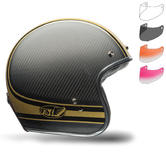 Bell Custom 500 Carbon RSD Bomb Motorcycle Helmet Retro Visor Kit