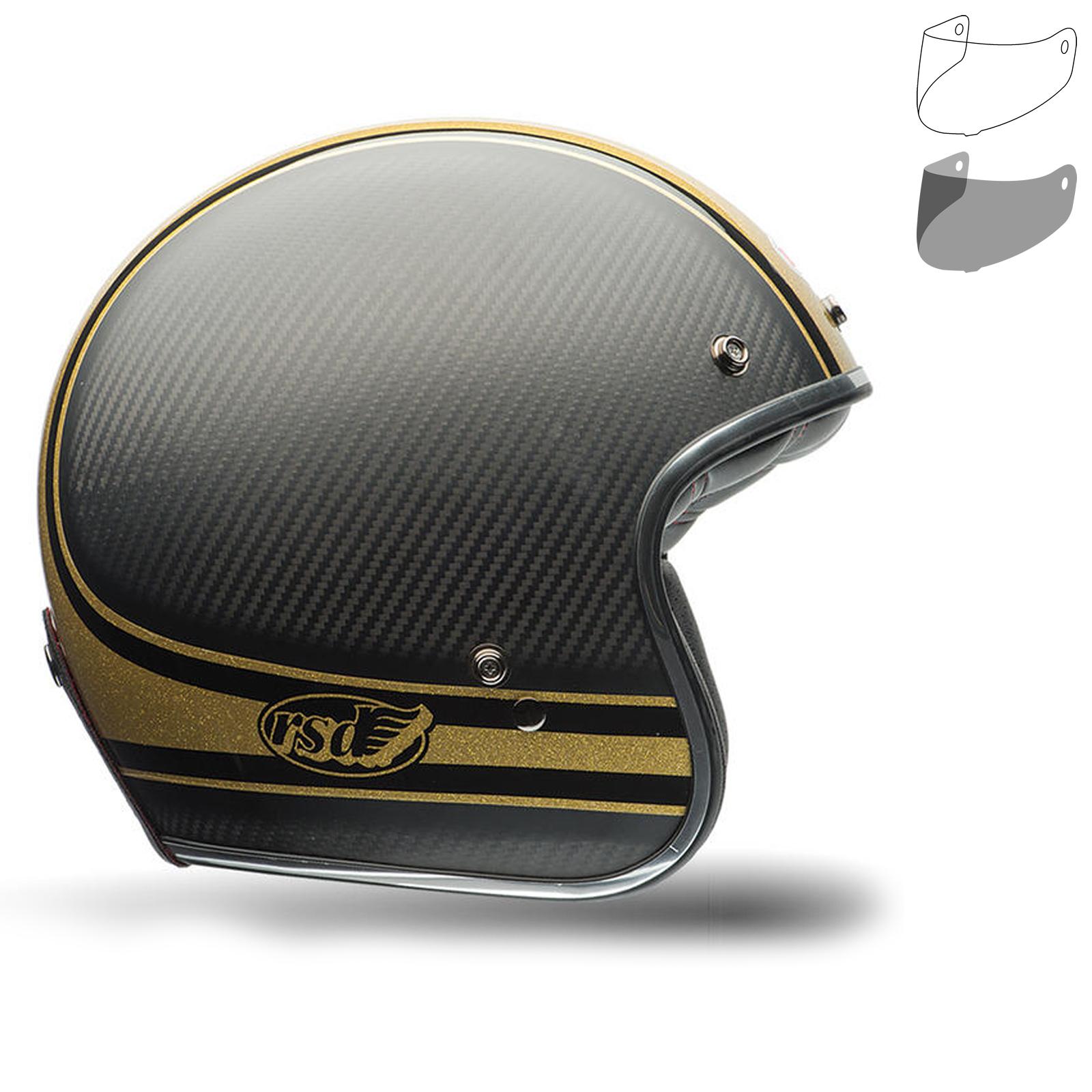 Helmet Jet Bell Custom 500 DLX SE RSD Check IT Black Gold