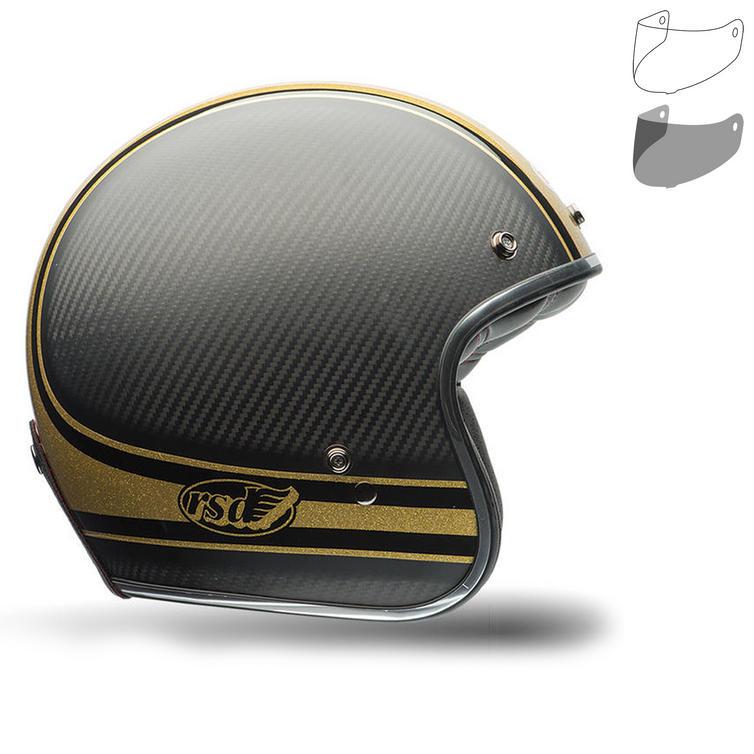 Bell Custom 500 Carbon RSD Bomb Motorcycle Helmet MXL Visor Kit