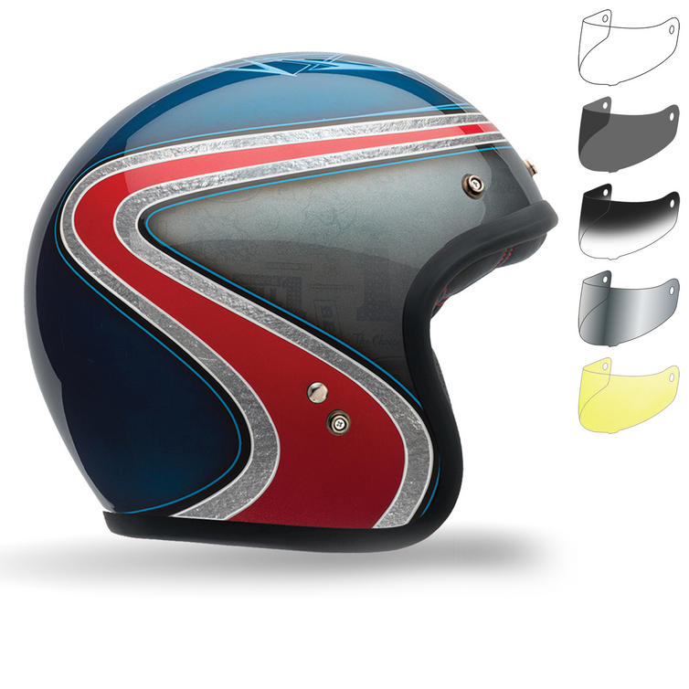 Bell Custom 500 Airtrix Heritage SE Motorcycle Helmet Bubble Visor Kit
