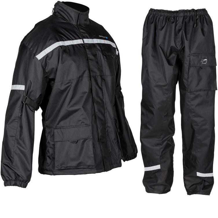 Spada Aqua Motorcycle Over Jacket & Trousers Black Kit