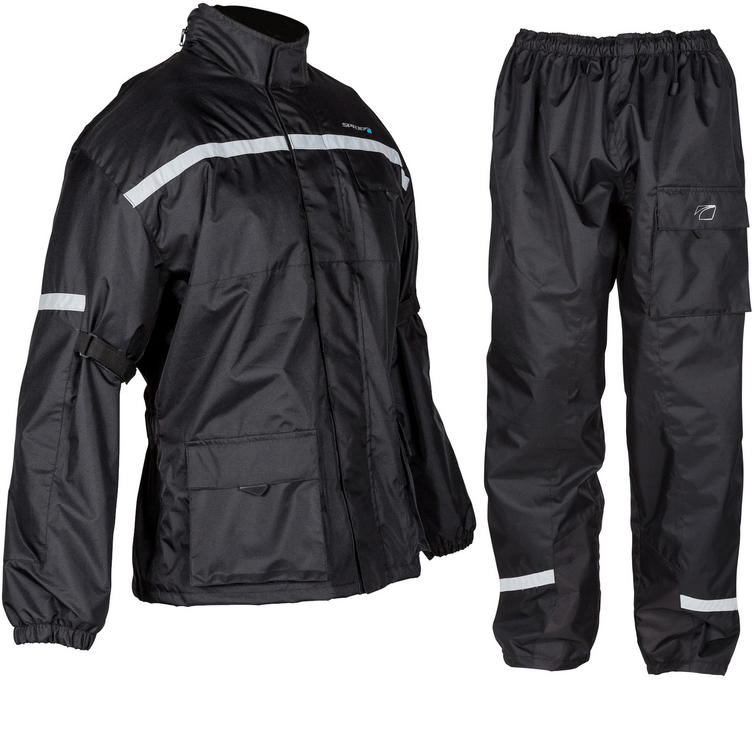 Spada Aqua Quilt Motorcycle Jacket & Trousers Black Kit