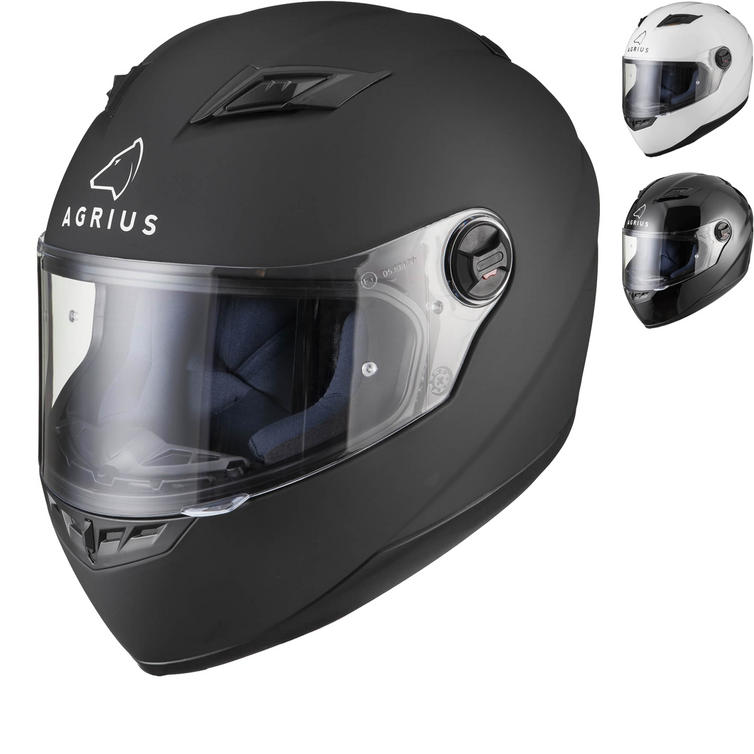 9a62f3d8 Agrius Rage Solid Motorcycle Helmet (Pinlock Ready) - Full Face Helmets -  Ghostbikes.com