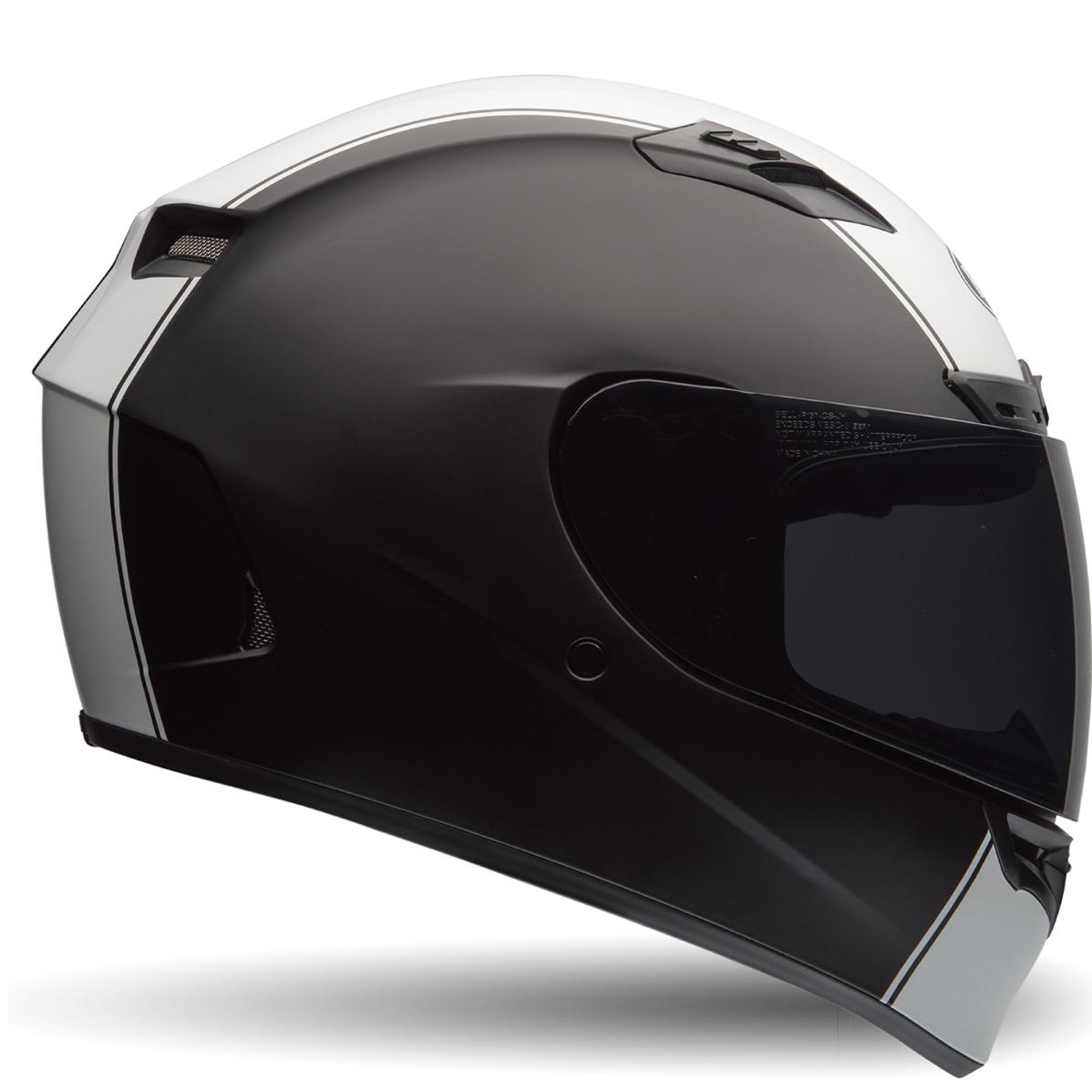 f3a3209a Bell Qualifier DLX Rally Matt Black White Motorcycle Helmet & Race ...
