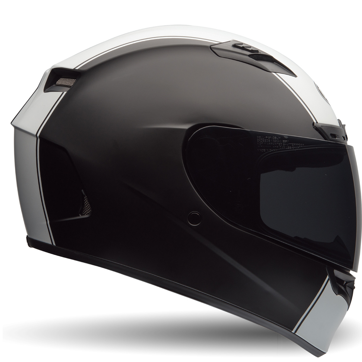 bell qualifier dlx rally matt black white motorcycle helmet